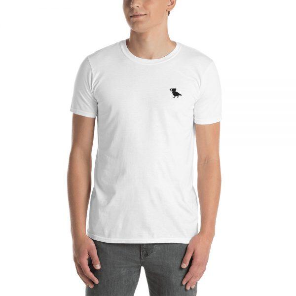 Embroidered Surveillance Pigeon Unisex T-Shirt Men