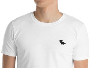 surveillance pigeon embroidered logo tshirt