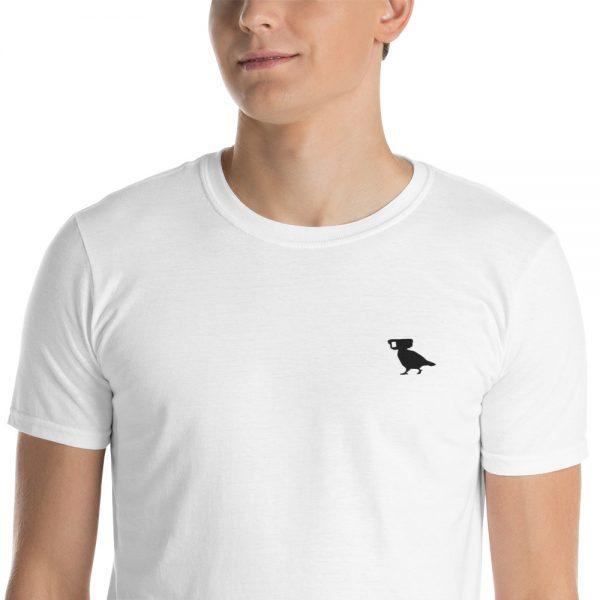 surveillance pigeon embroidered logo tshirt