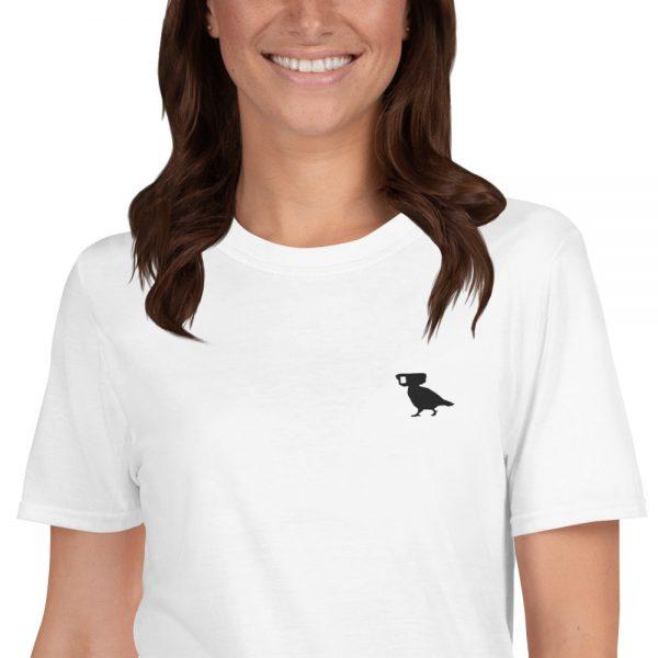 surveillance pigeon embroidered logo t-shirt