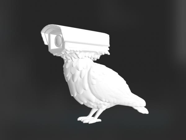 3D Surveillance Pigeon Model STL