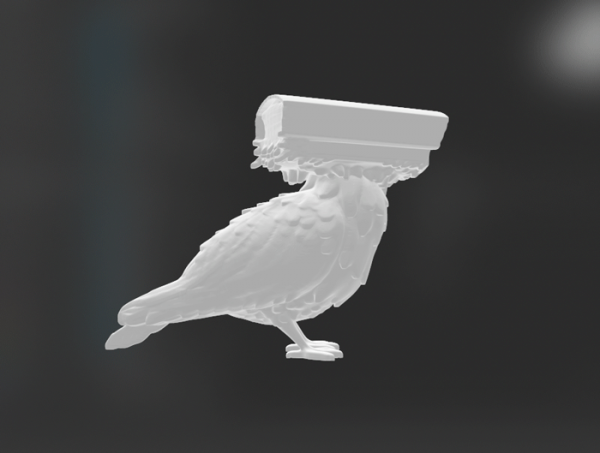 Pigeons Aren't Real 3d model